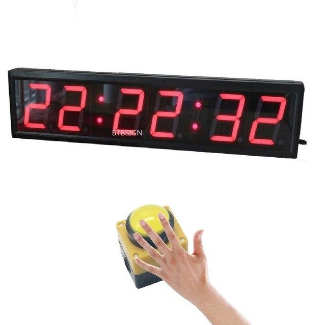 Aliexpress com: Comprar BTBSIGN grande LED de Cuenta atrás cronómetro con  cable botón grande y remoto inalámbrico obstáculos carreras Wipeout