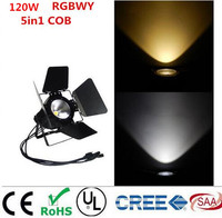 LED Par 120W COB RGBWA 5in1 RGBW 4in1 RGB 3in1 Warm White Cold White UV LED