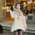 2016 Winter Warm Md-Long Padded Cotton Jacket Women Hooded Coat Ladies Outwear