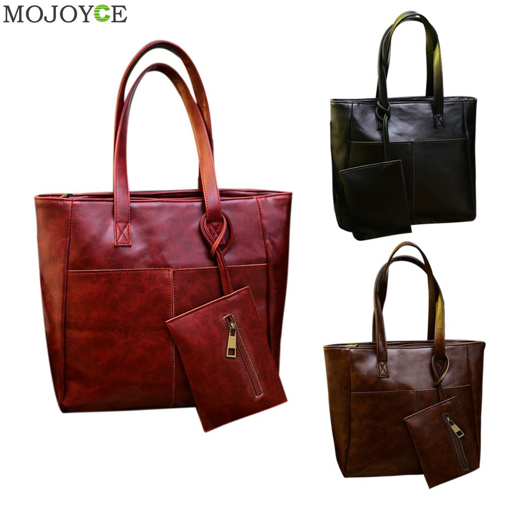 New Autumn Winter Large Women Leather Handbag PU Retro Mini Bag Crossbody Ladies Tote Female Clutch Bolsa