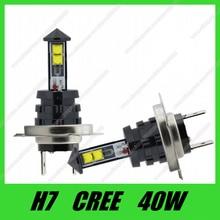 Горячая Распродажа, 2 шт./лот, супер яркость, высокая мощность, противотуманная фара h7 led 40 Вт, чипы CREE XTE h7, светодиодная противотуманная фара, светодиодная лампа h7, белая лампа