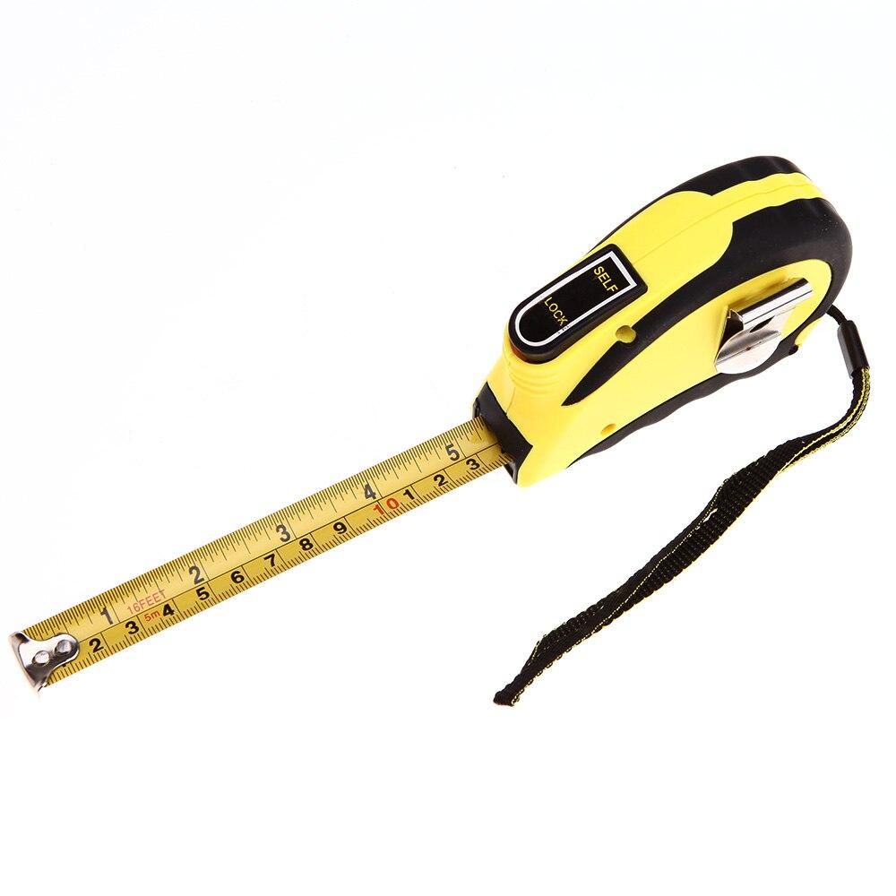 5 M 16 Kaki Self Lock Mengukur Meteran Ditarik Fleksibel Ruler Tape Meter Penguasa Cinta Metro Ruban De Mesure Meetlint Di Pengukur Pita Perekat Dari Alat