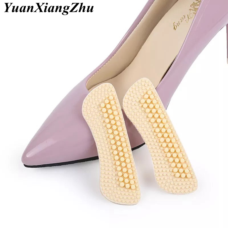 1Pair Fashion Massage Silicone Inserts Soft Sticky Silica Gel Fabric Shoe Pads Liner Grips Back Heel Inserts Insoles in Inserts Cushions from Shoes