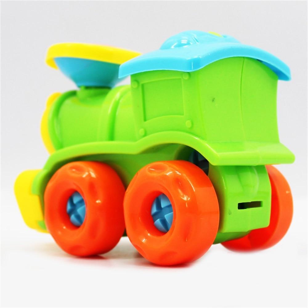 Купить с кэшбэком EASY BIG Educational Children Model Building Kits Basic Simple Trains Model Toys For Boys With Screw-Driver Tools  TH0021