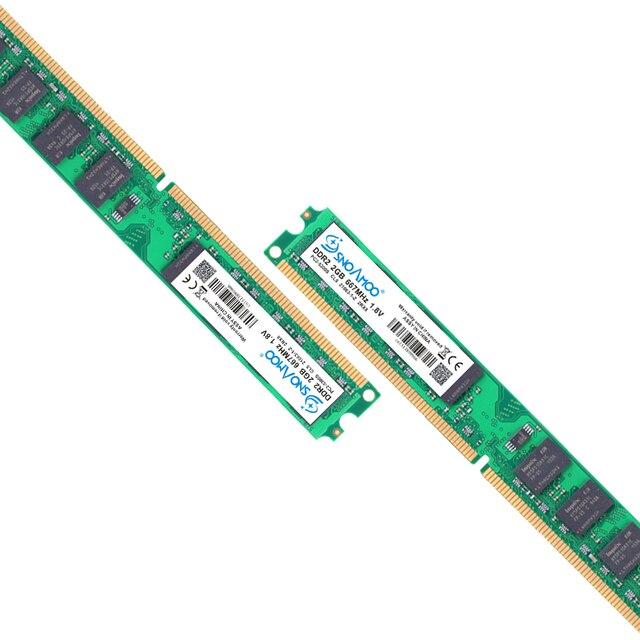 SNOAMOO Настольный ПК RAMs DDR2 4 Гб (2x2 Гб) 800 МГц PC2-6400S 240-Pin 1,8 в DIMM для intel и AMD совместимый компьютер памяти гарантия 2