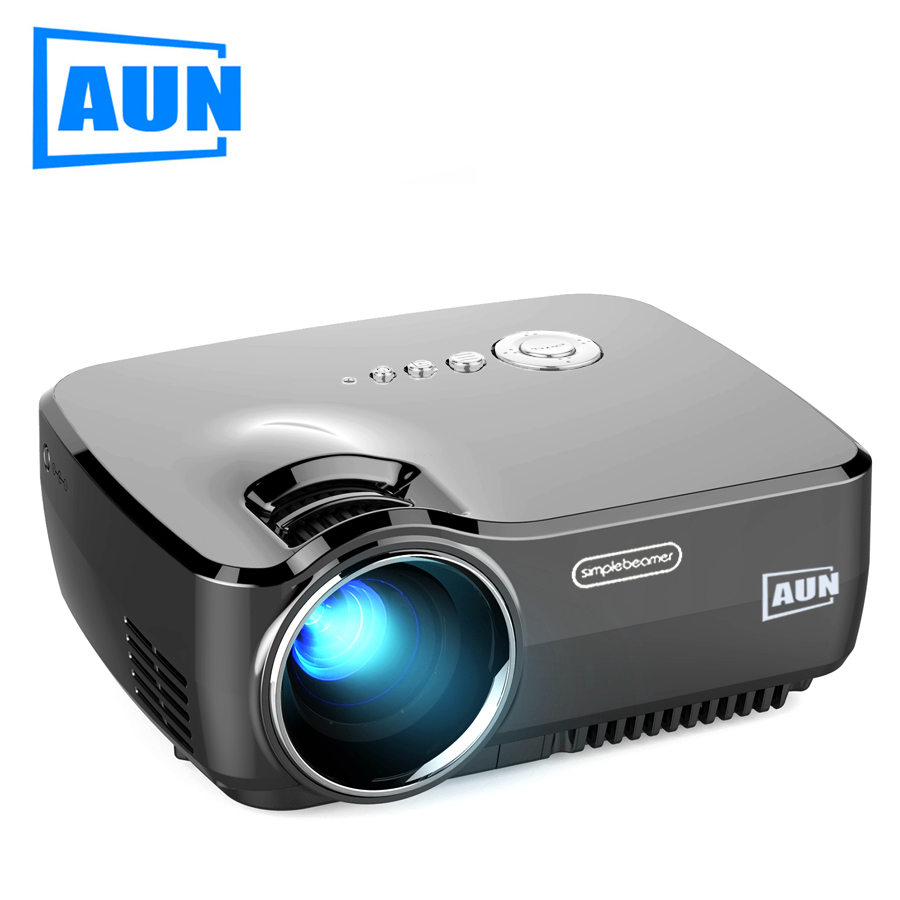 AUN LED Projector AM01/01P 1200Lumens 800*600P Home Theatre (Optional Android Version with WiFi Bluetooth Support AC3 Video)