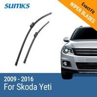 Free Shipping Framless Wiper Blade For Skoda Yeti Soft Rubber 24 19 Windshield Wiper Blade 2pcs