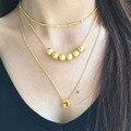 Letra inicial del nombre personalizado par collar colgante de la joyería para las mujeres chapado en oro Del Alfabeto granos del encanto de la manera del regalo del amor