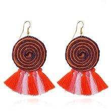 2018 Charm Earrings Fashion Women Statement Tassel Earrings for women New drop pom pom Fringing earrings