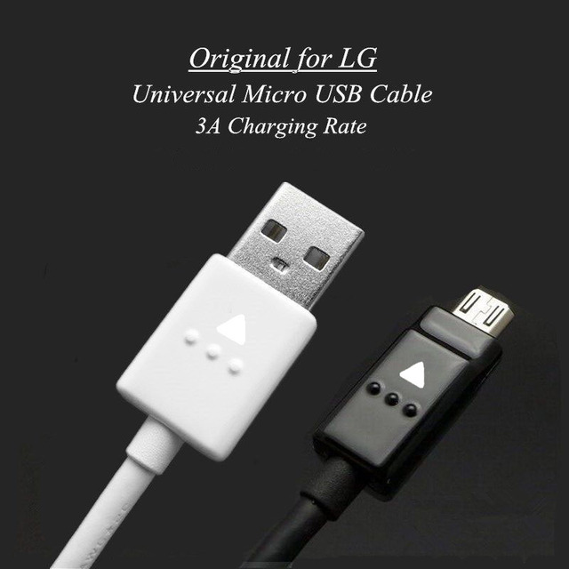 US $1 75 5% OFF Original Quick Charging Charge Micro USB Data Cable 20AWG  for LG V10 G4 G3 G2 Mini K10 K8 T5 F220 F240 F320 F340 F350 Nexus 4 O3-in