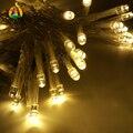 Nueva LED de Cuerda Luces 4 M 40LED por Vacaciones del Año Nuevo Partido Batteriebetrieben Batería Fiesta De Noche de La Lámpara de Jardín Al Aire Libre Bodas