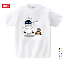 Boy Fashion Cotton T-Shirt ANIMATION ROBOT CUTE WALL E T-shirt Brand T Shirt Kids New Summer Kind