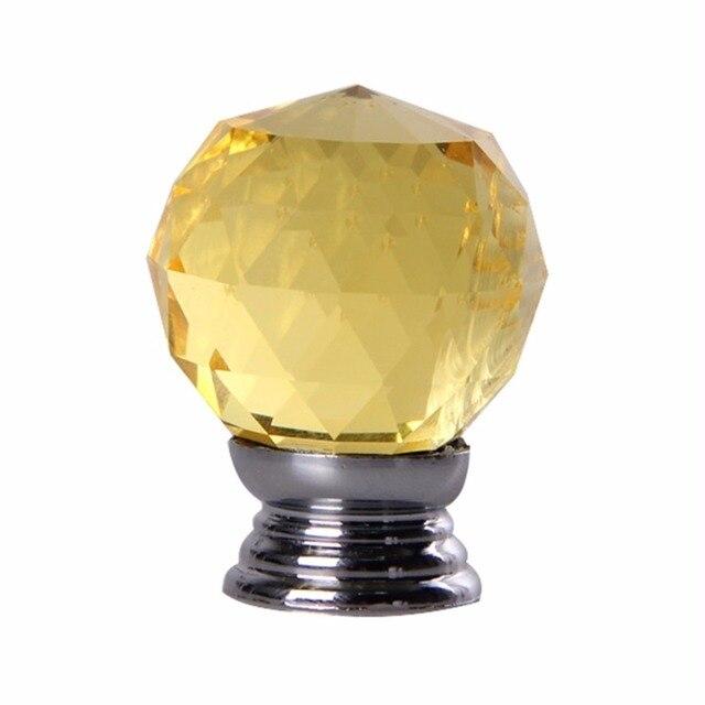 4pcs/set Crystal Glass Acrylic Door Knobs Drawer Cabinet Furniture Handle  Knobs Screws Kitchen Door