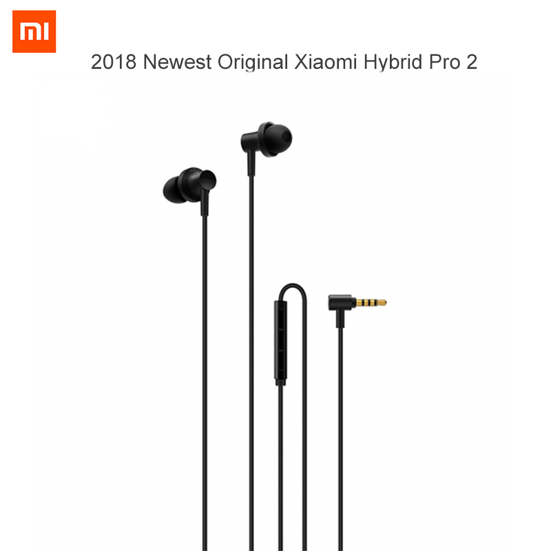 2018 Newest Original Xiaomi Hybrid Pro 2 / Hybrid Pro HD Earphone Dual / Triple Driver Dynamic Balanced Armature Mi In-Ear Mic original xiaomi pro hd in ear hybrid earphones