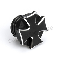 Black Cross Fuel Gas Tank Harley Softail Oil Cap Cover For Harley Dyna Oil Cap Road