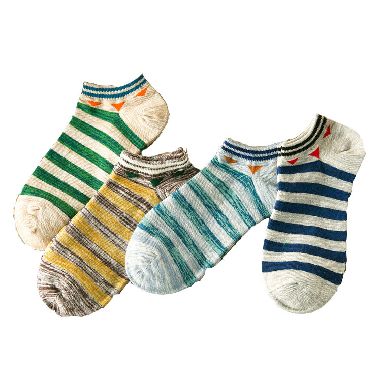 10 Pieces = 5 Pairs New Arrived 2017 Summer Korea Style Stripe Cotton Men Ankle Socks Personality Tide Socks,nice Men Socks