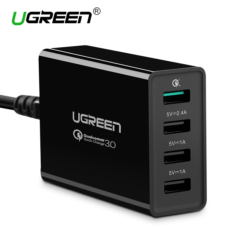 Ugreen Qualcomm Quick Charge 3 0 4 Ports Smart Mobile Phone Charger Desktop font b USB