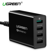 Ugreen Qualcomm Quick Charge 3.0 4 Ports Smart Mobile Phone Charger Desktop USB Charger for iPhone Samsung Xiaomi Quick Charger