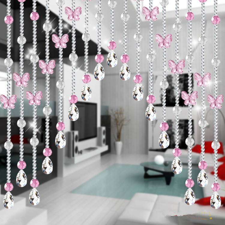 Hanging Beaded Room Divider Part Beaded Curtains As Room - Crystal hanging room divider