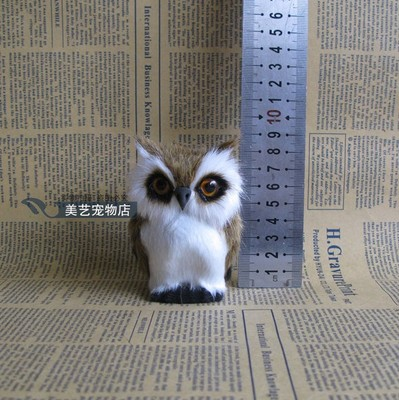 simulation owl toy model polyethylene& fur 9x8cm brown night owl handicraft,home Decoration xmas gift b3577 big simulation penguin toy polyethylene