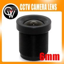 5PCS/LOT 6mm lens Board Camera Lens 1/3″ and 1/4″ F2.0 Lens For CCTV CCD CMOS Security Camera