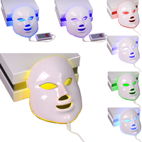 7 Colors LED Facial Mask Skin Rejuvenation Therapy Electric Device Wrinkle Removal Beauty Machine PDT Anti