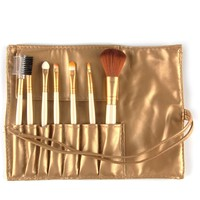 Makeup Brush Set Tools Make-up Toiletry Kit Soft Make Up Brush Set Professional Case 7 Pcs TF