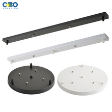 Ceiling Plate Black/White Iron Pendant Lamp Bases DIY 2/3/4/5 holes 25cm/30cm/40cm/50cm Straight/Round Base