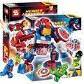 304 шт. Бэтмен Бела SY516 DC Супермен Капитан Мстители Ironman Модель Строительного Кирпича фигурки Игрушки Совместимо С Lego