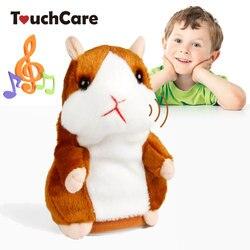 Touchcare 15 CM Reden Hamster Maus Haustier Plüsch Spielzeug Sprechen Lernen Elektrische Rekord Hamster Pädagogisches Kinder Stofftiere Geschenk