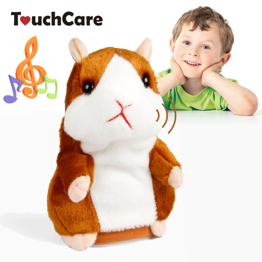 Touchcare 15CM Talking Hamster Mouse Pet Plush Toy Learn To Speak Electric Record Hamster Educational Children Stuffed Toys Gift talking hamster speak talk sound record repeat stuffed plush animal child toy