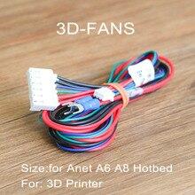 1 Pc Anet A6 A8 Yatağı Kablo Termistör ile Mendel için RepRap i3 3D Yazıcı Isıtmalı Yatak
