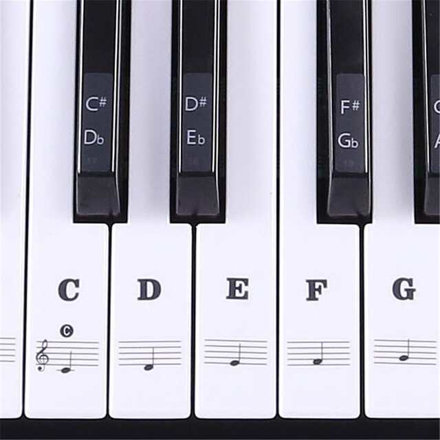 US $2 1 31% OFF|88 61 54 Keys Transparent Piano Keyboard Sticker Keyboard  Piano Stickers Musical Notes Key Posts Accept Wholesale-in Piano from  Sports