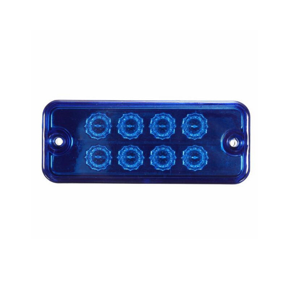 1pcs 8 LED  12V 24V Waterproof  Blue Clearance Side Marker Light Indicator Lamp Truck Trailer Lorry Car Lights Lamp 2pcs car waterproof side marker light truck clearance lights trailer 3 led warning lamp bulb 12v
