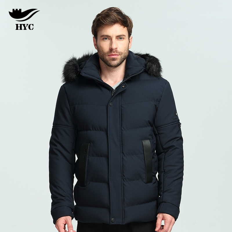 HAI YU CHENG Mens Windbreaker Faux Fur Hood Coat High Quality Anorak Winter Jacket Men Hot Sale Winter Parkas Mens Jacket Brand hai yu cheng winter jacket men wadded parka male wind breaker long trench coat plus size men coat outerwear hood winter anorak
