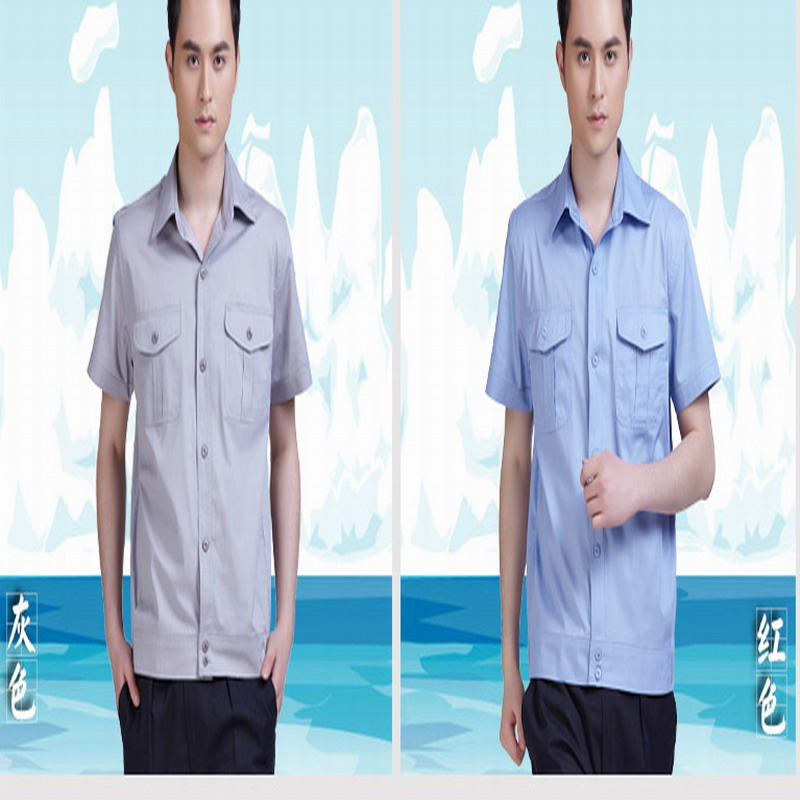 Male short-sleeve summer work wear top car beauty workwear protective clothing audio technica ath m50x straight cable 1 2m