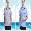 Male short-sleeve summer work wear top car beauty workwear protective clothing