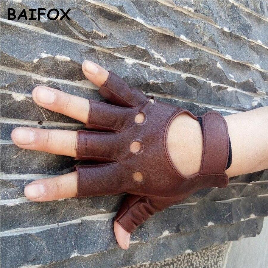 BAIFOX 100% Goat Leather Drop Shipping 2017 Fashion Half Fins