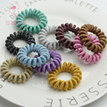 Shapu Colour the new telephone wire high elasticity for rubber bands hair accessories for lady scrunchies headwear ornaments