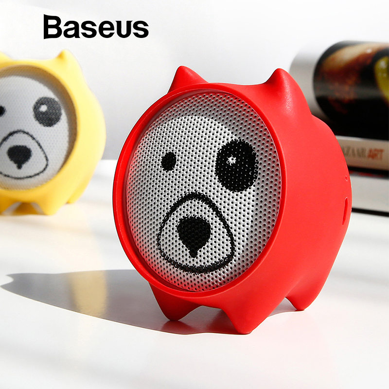Baseus E06 perros altavoz portátil Bluetooth Mini Altavoz Bluetooth regalo altavoces MP3 reproductor de música de sonido estéreo altavoz inalámbrico