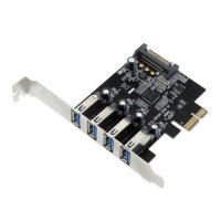 Hot Sale 4 Port SuperSpeed USB 3.0 PCI Express Controller Card Adapter 15 pin SATA Power Connector Low Profile