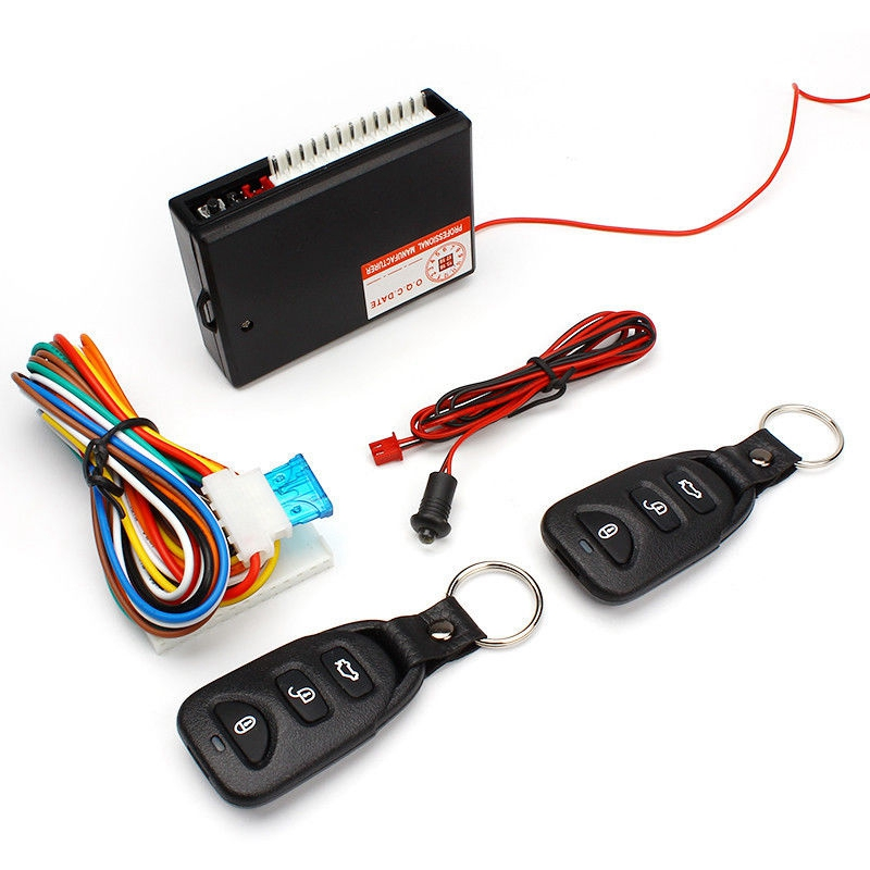 Car Alarm Systems Auto Remote Central Kit Door Lock Vehicle Keyless Entry System Central Locking with Remote Control Car Styling