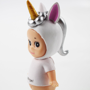 Image 5 - 9cm Sonny Angel blue and white 2styles cute action figure model toy kawaii Sonny Angel cos Unicorn figure model collection gift