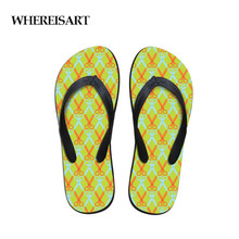 купить WHEREISART Casual Slippers Women Scissors Printing Summer Beach Flip Flops Sandals Women's Slippers Female Sandals Shoes по цене 778.09 рублей