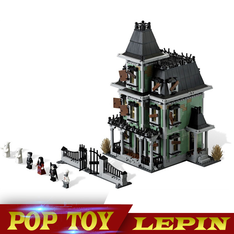 New LEPIN 16007 2141Pcs Monster fighter The haunted house Model set Building Kits Model Compatible With 10228 lepin 16007 2141pcs monster fighter the haunted house model set building kits model compatible with 10228 educational toys gifts