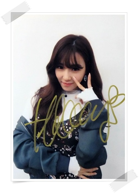 SNSD TIFFANY  autographed signed original photo 4*6 inches collection new korean  freeshipping 012017 01