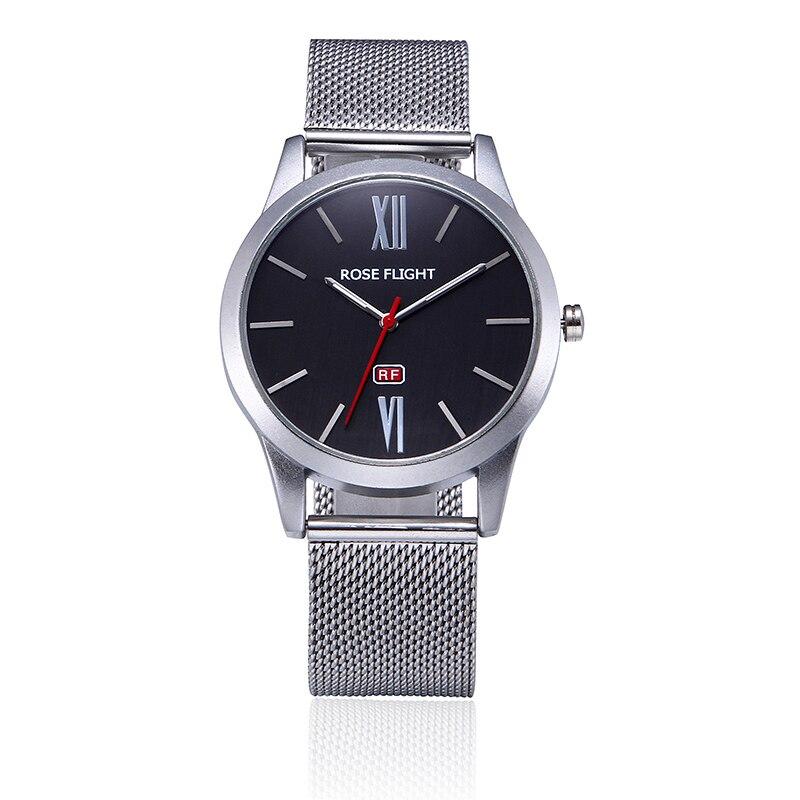 2018 ROSEFIELD Golden Women Stainless Steel Watches Men Top Brand Luxury Casual Clock Men Wrist Watch