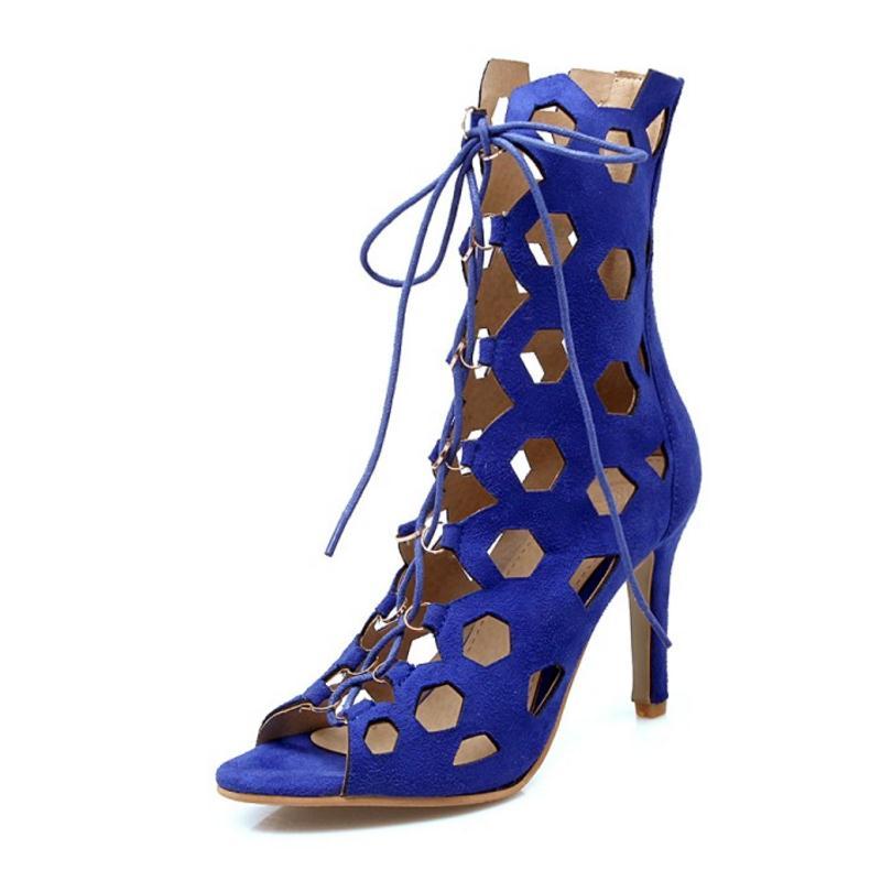 Sangle 43 Femelle orange Partie bleu Femmes light Noir Croix Footwears Hallow Talons 32 Sexy Hauts Sandale Mince Taille Sandales Out À Kemekiss Brown Dame Twfq7xgE