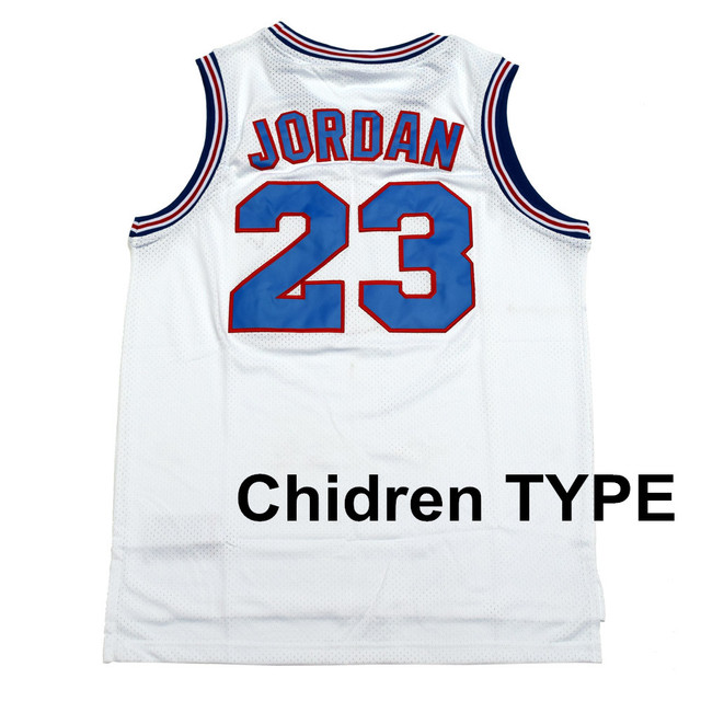 162bd5c3dc3585 QNDREZ Children Movie Space Jam  1 Bugs Bunny  10 Lola  23 JORDAN Tune Squad  White Youth Basketball Kids Jersey