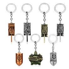 Игры ювелирные изделия World of Tanks WOT Танк из пуль брелок для ключей для автомобиля сумки брелоки для мужчин мальчиков сувенир